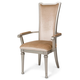 Aico Bel Air Park Arm Chair in Champagne (Set of 2) 9002004-201