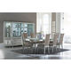 Aico Bel Air Park 7pc Leg Dining Set in Champagne