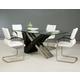 Pastel Furniture Akasha 5 pcs Dining Table Set in Walnut AK-512-7042-AK-117-WE
