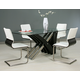 Pastel Furniture Charlize 5 pcs Dining Set in Wenge AK-512-7042-CH-110-WE