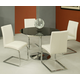 Pastel Furniture Monaco 5 pcs Dining Set in Chrome SU-515-4414-MC-110