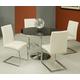 Pastel Furniture Monaco 5 pcs Dining Set in Chrome SU-515-4414-MC-110
