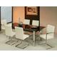 Pastel Furniture Monaco 7 pcs Dining Set in Chrome/Ebony MC-512-7814-MC-110-117