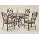 Pastel Furniture Magnolia 5 pcs Dining Set in Autumn Rust VD-510-4819-MA-110