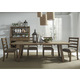 Liberty Furniture Prescott Valley 7pc Trestle Dining Set in Antique Honey
