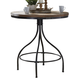 Liberty Furniture Vintage Dining Series Pub Table in Weathered Gray with Black Metal 179-PUB3636