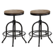 Liberty Furniture Vintage Dining Series Bar Stool in Weathered Gray with Black (Set of 2) 179-B000324
