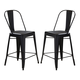 Liberty Furniture Vintage Dining Series  Bow Back Counter Chair in Black (Set of 2) 179-B350524-B