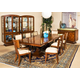 Aico Cloche 7pc Partial Rectangular Dining Set in Bourbon