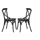 Liberty Furniture Vintage Dining Series X-Back Dining Side Chair in Black (Set of 2) 179-C3005-B