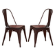 Liberty Furniture Vintage Dining Series Bow Back Dining Side Chair in Red (Set of 2) 179-C3505-R