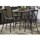 Liberty Furniture Vintage Dining Series 5pc Pub Set in Weathered Gray with Black Metal