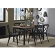 Liberty Furniture Vintage Dining Series 7pc Rectangular Dining Set in Weathered Gray with Black Metal