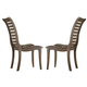 Liberty Furniture Bayside Crossing Slat Back Side Chair in Washed Chestnut (Set of 2) 185-C1500S