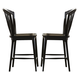 Liberty Furniture Candler Windsor Counter Chair in Black (Set of 2) 223-B100024-B