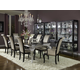 AICO Hollywood Swank 9-pc Rectangular Dining Table Set in Black Iguana