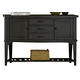 Liberty Furniture Candler 3 Drawer Server in Black 223-SR5638-B