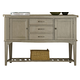 Liberty Furniture Candler 3 Drawer Server in Gray 223-SR5638-G