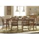 Liberty Furniture Candler 7pc Rectangular Dining Set in Nutmeg