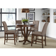 Liberty Furniture Mirage 5pc Round Pedestal Dining Set in Cinnamon