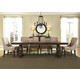 Liberty Furniture Armand 7pc Trestle Dining Set in Antique Brownstone
