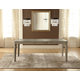 Hillsdale Furniture Savona Rectangular Dining Table in Vintage Gray 5851-810