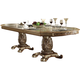 Acme Vendome Double Pedestal Dining Table in Gold Patina 63000 SPECIAL