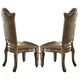 Acme Vendome Side Chair (Set of 2) in Gold Patina 63003