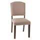 Hillsdale Furniture Emerson Parson Dining Chair in Natural Sheesham (Set of 2) 5674-802