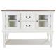 Liberty Furniture Cumberland Creek Server in Nutmeg/White 334-SR5640
