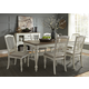 Liberty Furniture Cumberland Creek 7pc Rectangular Leg Dining Set in Nutmeg/White