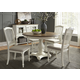 Liberty Furniture Cumberland Creek 7pc Pedestal Dining Set in Nutmeg/White