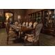 AICO Platine de Royale 9pc Rectangular Dining Table Set in Light Espresso