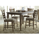 Liberty Furniture Pebble Creek 5pc Gathering Set in Weathered Butterscotch