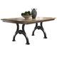 Liberty Furniture Arlington House Trestle Table in Cobblestone Brown 411-T4274