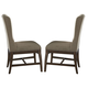Liberty Furniture Arlington House Upholstered Host Chair in Cobblestone Brown (Set of 2) 411-C6501S