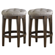 Liberty Furniture Arlington House Upholstered Backless Barstool in Cobblestone Brown (Set of 2) 411-B000124