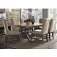 Liberty Furniture Arlington House 7pc Trestle Table Set in Cobblestone Brown