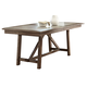 Liberty Furniture Stone Brook Trestle Table in Rustic Saddle 466-T4096
