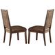 Liberty Furniture Stone Brook Upholstered Side Chair in Rustic Saddle (Set of 2) 466-C6501S
