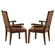 Liberty Furniture Stone Brook Upholstered Arm Chair in Rustic Saddle (Set of 2) 466-C6501A