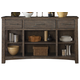 Liberty Furniture Stone Brook Buffet without Fireplace in Rustic Saddle 466-CB6479WO