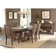 Liberty Furniture Stone Brook 7pc Trestle Dining Set in Rustic Saddle