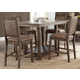 Liberty Furniture Stone Brook 5pc Kitchen Island Dining Set in Rustic Saddle