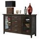 Liberty Furniture Pebble Creek II Server in Weathered Tobacco 476-SR6036