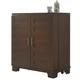 Liberty Furniture Pebble Creek II Wine Cabinet in Weathered Tobacco 476-WC3742