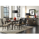 Liberty Furniture Pebble Creek II 7pc Rectangular Leg Table Set in Weathered Tobacco