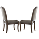 Liberty Furniture Amelia Upholstered Side Chair in Antique Toffee (Set of 2) 487-C6501S