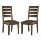 Leystone Side Chair in Dark Brown (Set of 2) D614-01