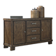 Leystone Server in Dark Brown D614-60